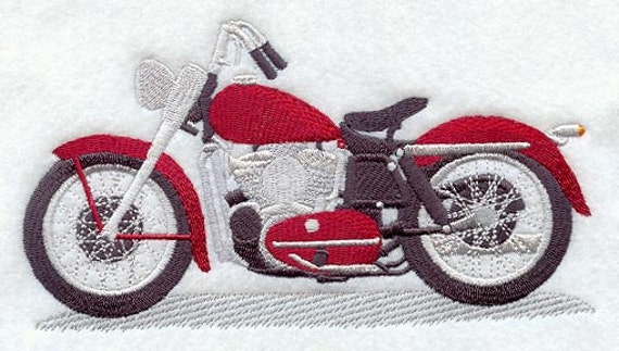 ANTIQUE MOTORCYCLE Machine Embroidered Quilt Block AzEB : motorcycle quilt pattern - Adamdwight.com