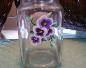 Hand Painted Glass Everything Jar