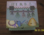Wooden Herb Box RESERVED FOR SUSAN