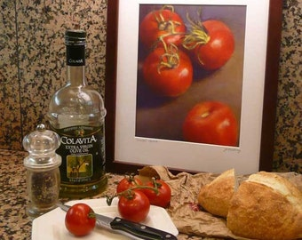 Tossed Salad Art Print Of Color Pencil Drawing Still Life