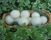 Farm Fresh Dryer Balls Lavender Scent locally grown wool set of three