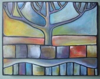 Tree of Life 10 X 8 Original Acrylic Painting