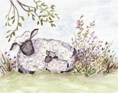 Note Cards, Set of two - Mama and baby sheep