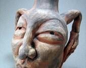 Native  Clown Spirit Face Jug