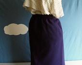 Vintage Purple High Waisted Skirt