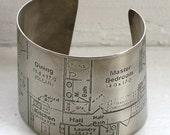Blueprint Etched Bracelet - Silver
