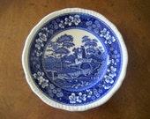 Vintage Spode  Salad or Dessert Plate  Blue Tower
