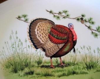Vintage Turkey Platter Circa 1950
