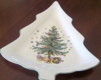 Vintage Nikco Christmas Tree Dish