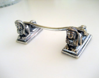 Vintage Silver Plate Sphinx Knife Rest.  Circa 1800s.