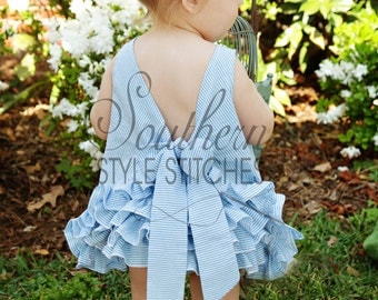 Ruffle Pinafore, Personalized Ruffle Pinafore, First Birthday outfit