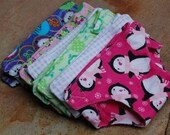 Flannel Doll Diapers - Made by Sarah (2 diapers listing)
