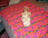 Mile a Minute Baby Blanket (doll not for sale)