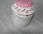 Pink and Shabby Red Roses Baking Liners - 12
