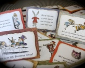 Alice in Wonderland/Mad Hatter Custom Placecards - Set of 4