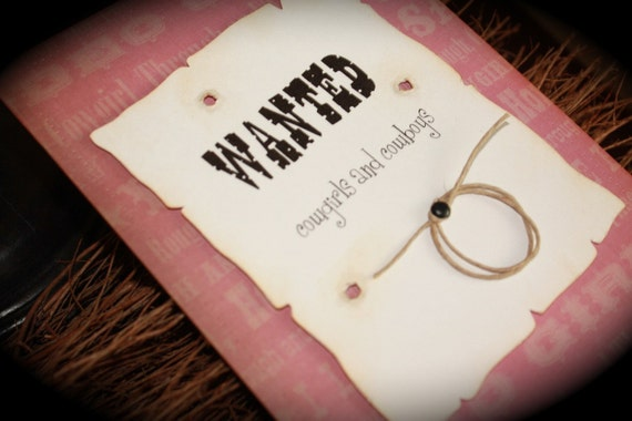 HOWDY...WANTED...Cowgirl birthday invite