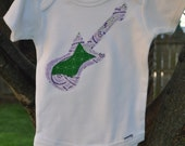 CLEARANCE HUGE SALE Girls / Boys / Toddler / Baby Electric or Accoustic Guitar Music Onesie Bodysuit or Shirt