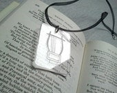 Keats Pendant - Here lies one whose name was writ in water - Romantic clear necklace