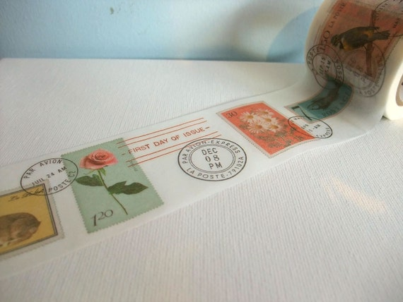 Japanese Masking Tape 1 Piece - Postage Stamps