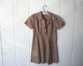 vintage children's BROWNIE girl scout dress (small)
