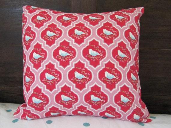 Beautiful Tilda Oriental Bird Print Cushion / Pillow