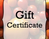 Gift Certificate - Organic Seed Gift Certificate for Cubits - Custom Amount