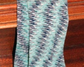 Blue Patterned Children's Leg Warmers- One Size Fits Most