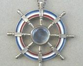 Vintage Ship Wheel Watch Case Steampunk Arts and Crafts