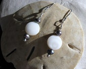 Sterling Silver Freshwater and Mother of Pearl Earrings