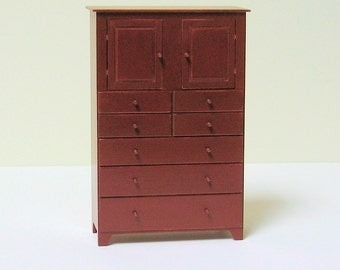Shaker Tall Chest - 1/12th scale