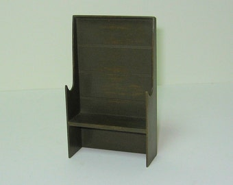 Green Settle Bench - 1/12th scale