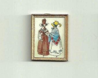 Miniature French Fashion Print - 1/12th scale