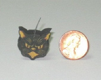 Black Cat  Trick or Treat Candy Container - 1/12th scale