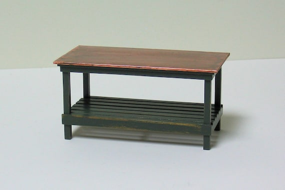 Kitchen Work Table With Copper top & slatted shelf below