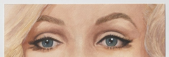 The Eyes of Marilyn Monroe Painting in Realistic Watercolor
