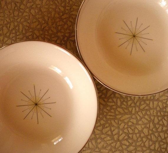 SALE - 2 Modern Star Eames Era Bowls
