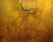 """Abstract Acrylic Painting - """"Fracture"""""""