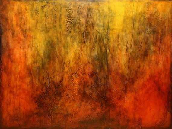 """Abstract Acrylic Painting - """"Red Desert 1"""""""