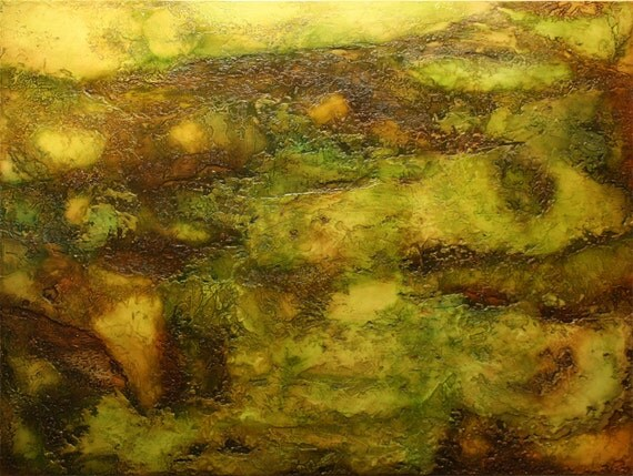"""Abstract Acrylic Painting - """"Memories That Weren't Mine"""""""