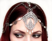 Remaining balance - on Reserve for Laura --- Belle Epoque One of a Kind Vintage Rhinestone Filigree Headpiece