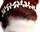 20% off Sale Grecian Goddess Golden Leaf Crown Headband
