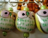 Adorable Yellow Owls Stitch Markers