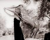 r e s e r v e d sheer sparkle cape gown . noir art deco wing dress .small.medium .sale