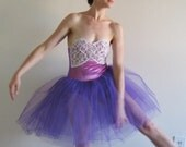 sugar plum fairy 1960 sequin ballerina dress .extra small