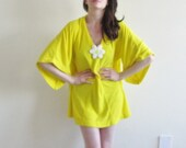spring chick 1960 dress . beach party micro mini daisy cover up .small.medium.large .sale