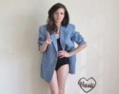 cool blue sports coat . 1970 hustler blazer .mens medium.large .sale s a l e