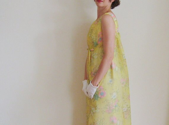 mod yellow bridesmaid gown perfect for a meadow wedding .small .sale.sale s a l e