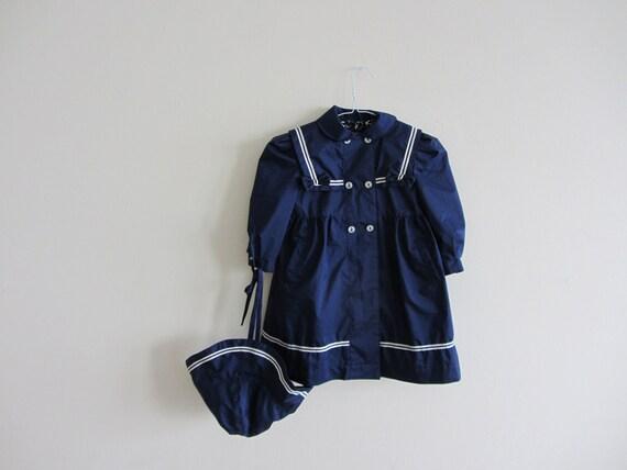 kid sailor peacoat . rothschild nautical jacket AW .size 3T .sale