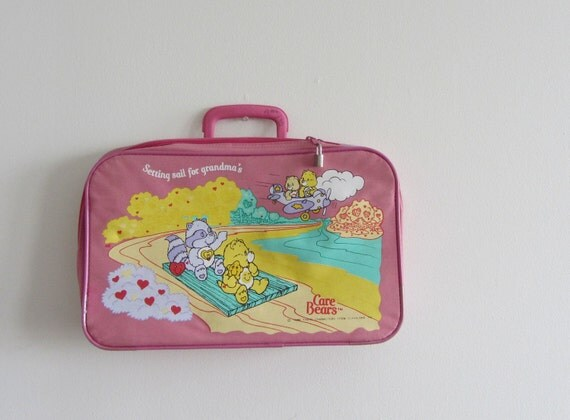 CARE BEAR STARE . weekend at grandmams suitcase luggage .sale
