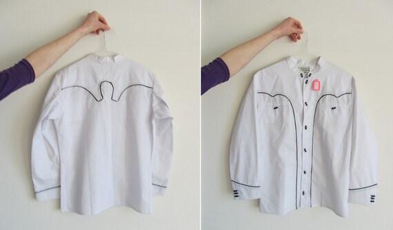 1950 cowboy shirt . senor caballero menswear .small.medium .sale s a l e